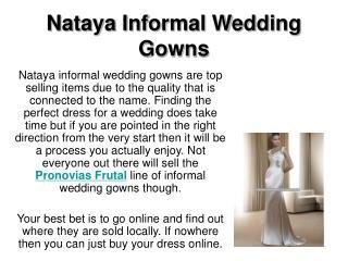 Nataya Informal Wedding Gowns