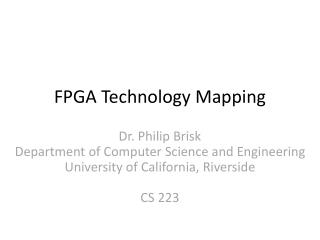 FPGA Technology Mapping