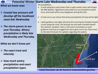 Potential Winter Storm Late Wednesday and Thursday