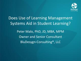 Does Use of Learning Management Systems Aid in Student Learning?