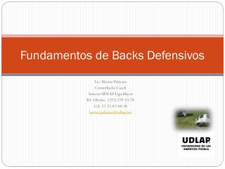 Fundamentos de Backs Defensivos
