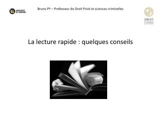 Bruno PY – Professeur de Droit Privé et sciences criminelles