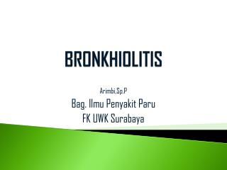 BRONKHIOLITIS