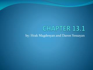 CHAPTER 13.1