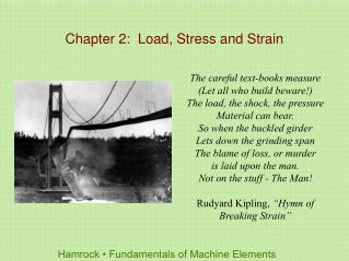Chapter 2:  Load, Stress and Strain