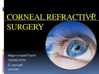 CORNEAL REFRACTIVE SURGERY