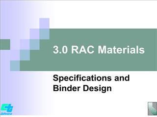 3.0 RAC Materials