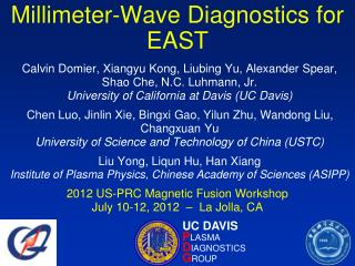 Millimeter-Wave Diagnostics for EAST