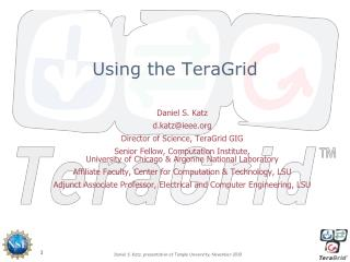 Using  the TeraGrid