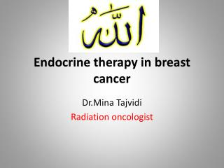 Endocrine therapy in breast cancer