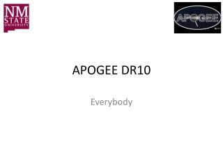 APOGEE DR10
