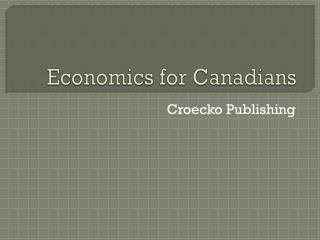 Economics for Canadians