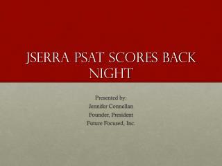 JSerra PSAT Scores Back Night