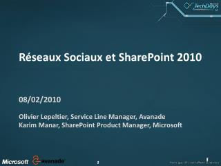 Réseaux Sociaux et SharePoint 2010