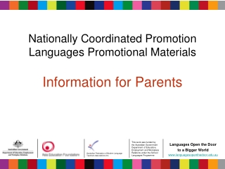 Modern Language Education and Teaching English to Speakers of ...