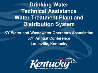 Drinking Water  Technical Assistance Water Treatment Plant and  Distribution System