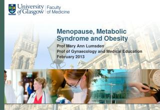 Menopause, Metabolic Syndrome and Obesity