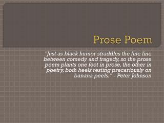 Prose Poem