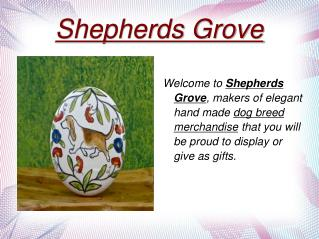 Hand Painted Dog Breed Ceramics Shepherds