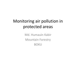 Monitoring air pollution in protected areas