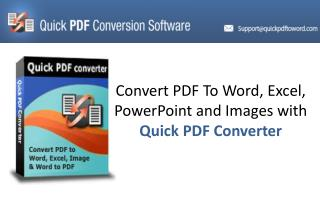 Quick PDF Converter