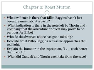 Chapter 2: Roast Mutton