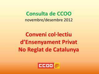Consulta de CCOO novembre /desembre 2012