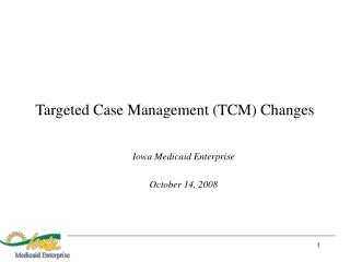 Targeted Case Management TCM Changes