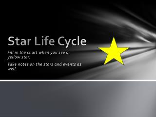 Star Life Cycle