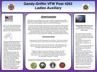 Gandy-Griffin VFW Post 4262 Ladies Auxiliary