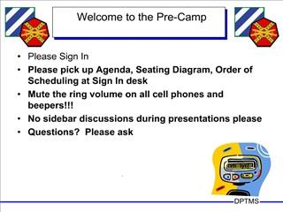Pre Camp Briefing