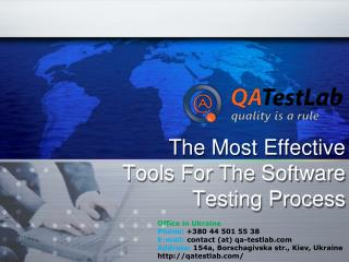 The Most Effective Tools For The Software Testing Process