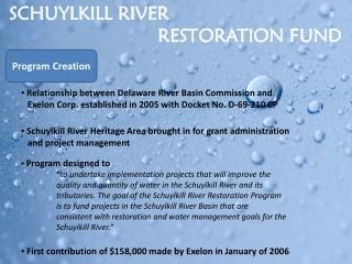 SCHUYLKILL RIVER                             RESTORATION FUND