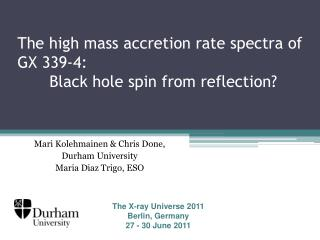 The high mass accretion rate spectra of GX 339-4: 	Black hole spin from reflection?