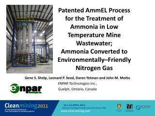 Gene S. Shelp, Leonard P. Seed, Daren Yetman and John M. Motto ENPAR Technologies Inc.,