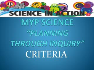 "MYP SCIENCE ""planning THROUGH INQUIRY"""