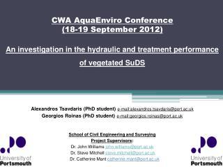 CWA  AquaEnviro  Conference (18-19 September 2012)