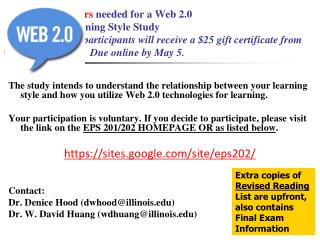 Volunteers needed for a Web 2.0 and Learning Style Study ...