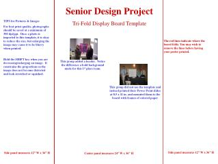 Senior Design Project Tri-Fold Display Board Template