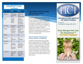 """Treat Allergies Not Just The Symptoms!™ """"WITHOUT NEEDLES"""""""