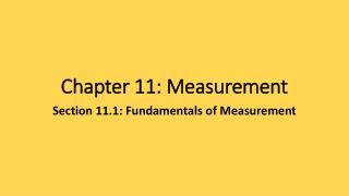 Chapter 11: Measurement
