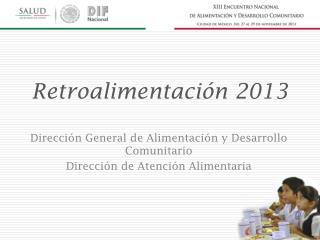 Retroalimentaci�n 2013