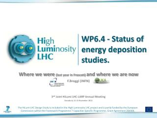 WP6.4 - Status of energy deposition studies.