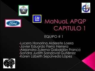 MaNuaL  APQP CAPITULO 1