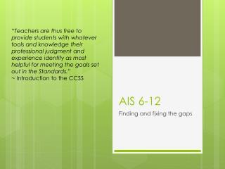 AIS 6-12