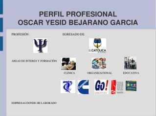 PERFIL PROFESIONAL OSCAR YESID BEJARANO GARCIA