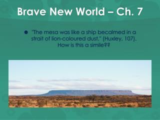 Brave New World – Ch. 7