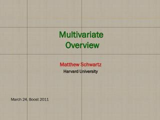 Matthew Schwartz Harvard University