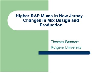 Higher RAP Mixes in New Jersey