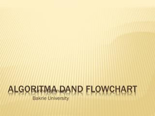 algoritma  D AND FLOWCHART